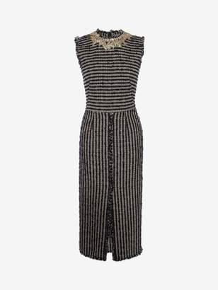 Alexander McQueen Boucle Tweed Midi Dress