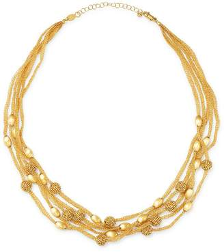 """Bloomingdale's 14K Yellow Gold Beaded 5-Row Mesh Necklace, 17"""" - 100% Exclusive"""