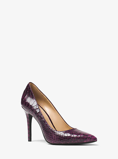 Michael Kors Claire Embossed-Leather Pump