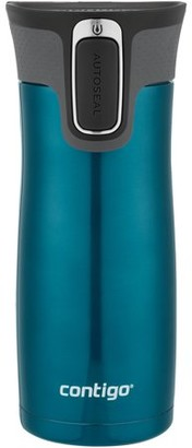 Contigo AUTOSEAL West Loop Vacuum-Insulated Stainless Steel Travel Mug with Easy-Clean Lid, 16 oz., Matte Biscay Bay