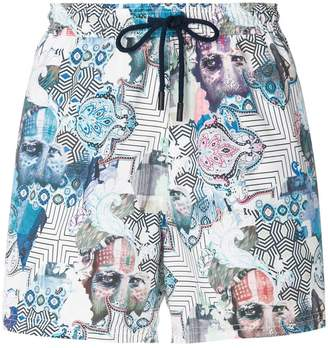 Etro Indian print swimming shorts