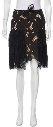 Alexis Mabille Eyelet Knee-Length Skirt w/ Tags