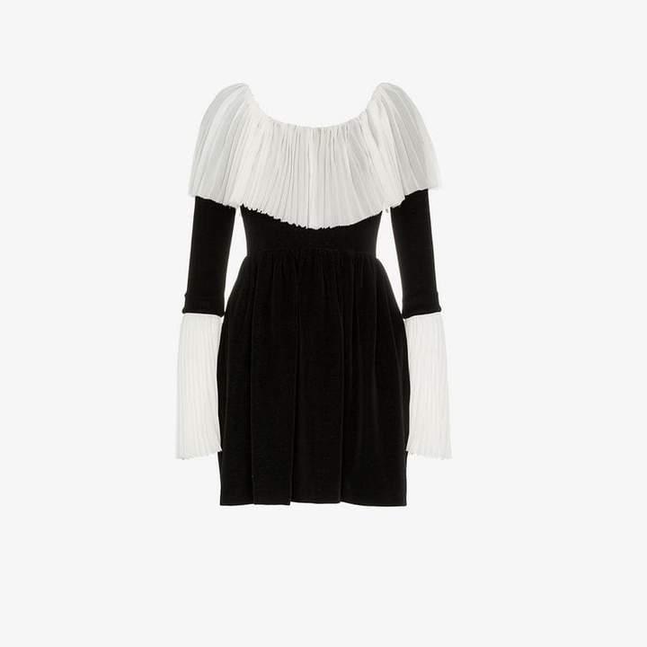 Push Button PushBUTTON velvet collar dress
