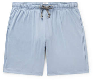 Schiesser Josef Cotton-jersey Pyjama Shorts - Blue