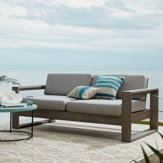 west elm Portside Outdoor Sofa - Weathered Gray