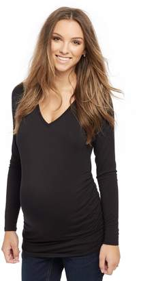 Motherhood Maternity Long Sleeve Maternity Tee- Solid