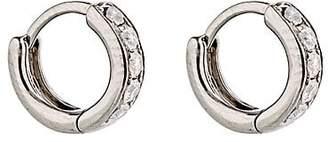 Eva Fehren Women's Grey Diamond Huggie Hoops