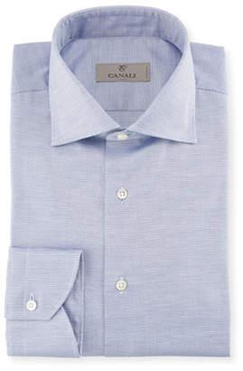 Canali Neat Dress Shirt, Blue