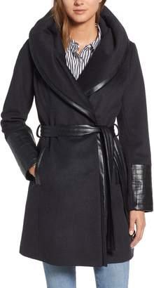 Via Spiga Wool Blend Coat