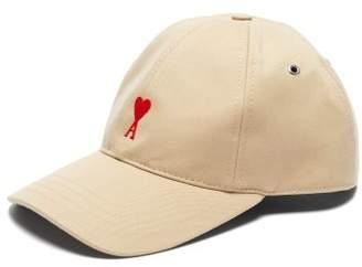 1db0ab2011a COM Ami Logo Embroidered Cotton Cap - Mens - Beige
