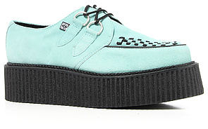 T.U.K. The Mondo Creeper in Mint Suede with Black Interlace