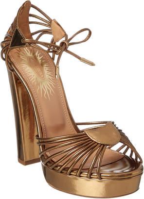 Aquazzura Josephine Plateau 130 Leather Sandal