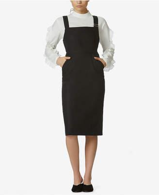 AVEC LES FILLES Structured Apron Dress