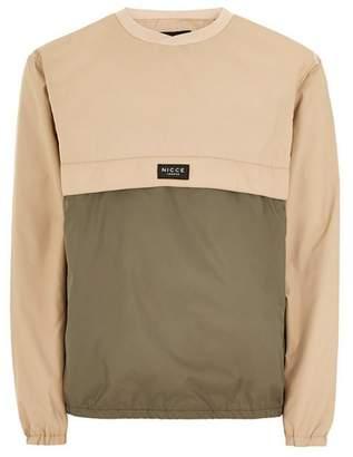 Topman Mens NICCE Khaki Panelled Sweatshirt