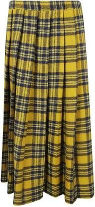 Aspesi Plaid Midi Skirt