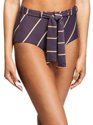 Seafolly Amulet Striped Tie-Front Bikini Bottom