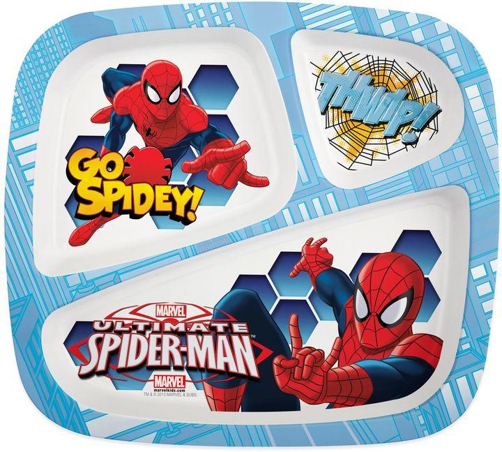 Zak! Designs® Spiderman Divided Kid's Dinner Plate