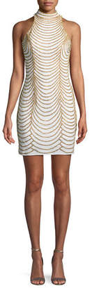 Jovani Layered Chain Mini Sheath Dress