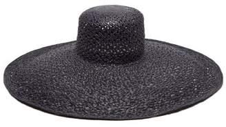 Lola Hats Pergola Wide Brim Straw Hat - Womens - Blue