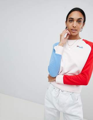 Fila Relaxed Sweatshirt With Embroidered Logo