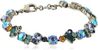 Sorrelli Womens Vivid Horizons Multi Cut Crystal Cluster Bracelet