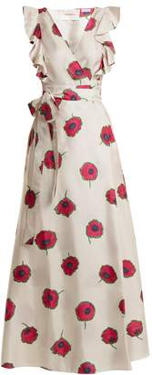 LA DOUBLEJ Wedding Guest Papaveri-print cotton dress