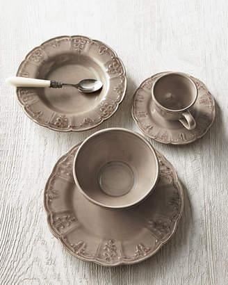 Four Fleur-de-Lis Soup Bowls