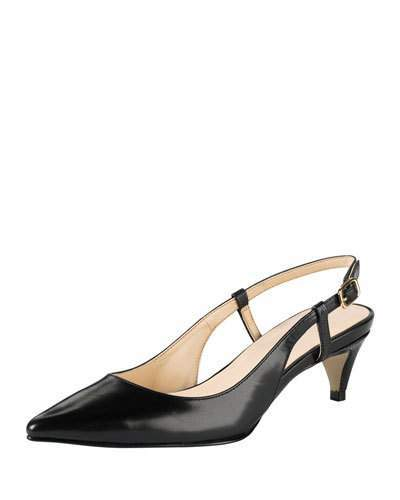 Cole Haan Juliana Low-Heel Slingback Pump, Black