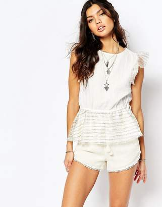 Stevie May Island Hopping Drop Waist Top in White