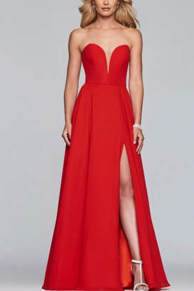 Faviana Classic Strapless Gown
