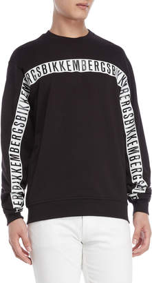 Bikkembergs Black Graphic Logo Sweatshirt