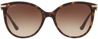 Bulgari tortoiseshell oversized round frame sunglasses