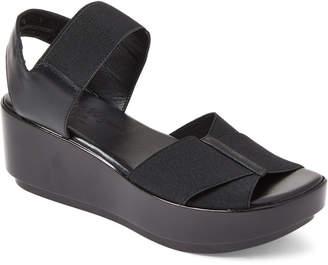 Robert Clergerie Black Parni Stretch Platform Sandals