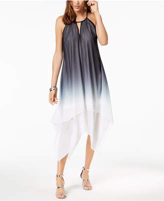 INC International Concepts I.n.c. Tie-Dyed Handkerchief-Hem Dress, Created for Macy's