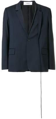 Chalayan split button blazer