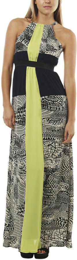 Arden B Tribal Colorblocked Maxi Dress