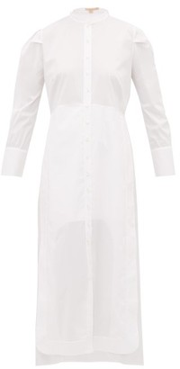 Brock Collection Penelope Cotton Poplin Midi Shirt Dress - Womens - White