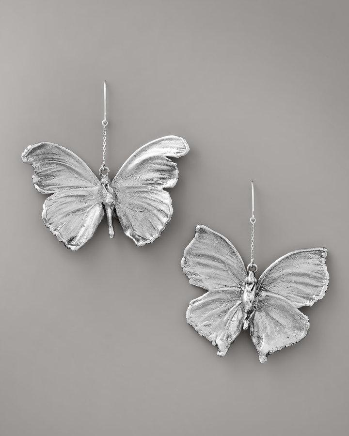 Aurelie Bidermann Butterfly Earrings