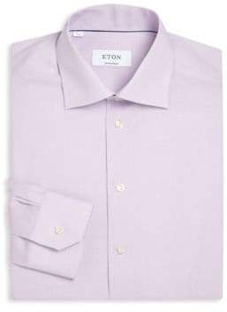 Eton Contemporary-Fit Micro Checked Dress Shirt