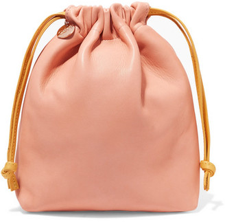 Clare V. - Textured-leather Pouch - Blush $200 thestylecure.com