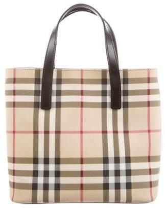 Burberry Nova Check Mini Handle Bag