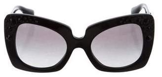 Versace Embellished Medusa Sunglasses