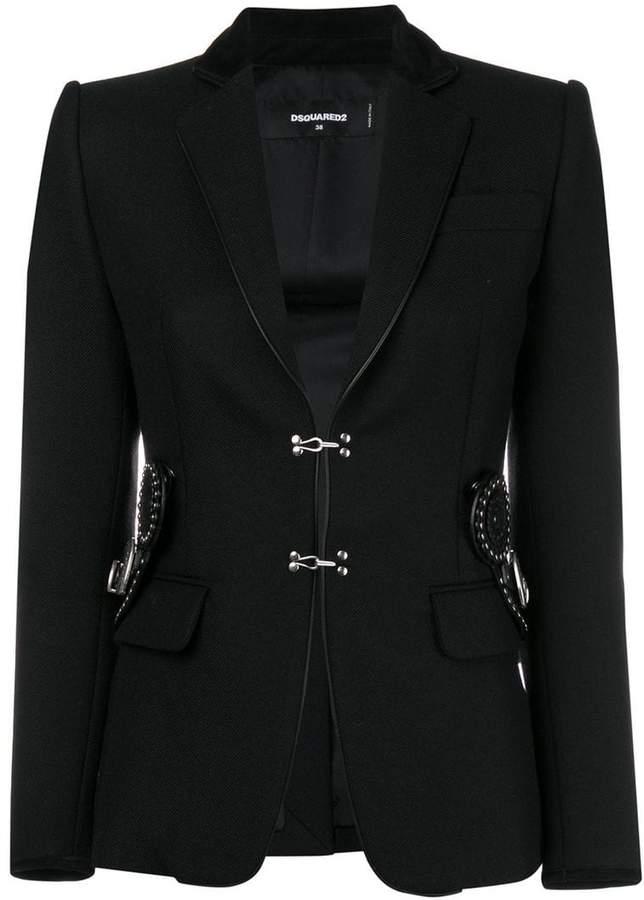 embellished buckle jacket