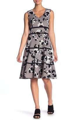 Taylor Floral V-Neck Fit & Flare Dress