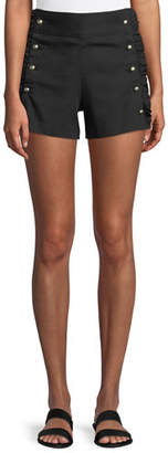 Club Monaco Hajari Sailor-Button Frill Shorts