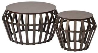 Office Star OSP Designs by Products Solana 2 Piece Set Round Accent Tables
