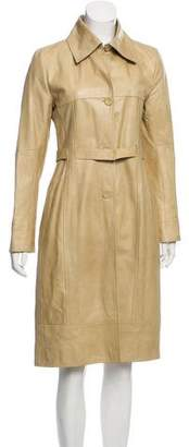 Martin Grant Belted Leather Coat