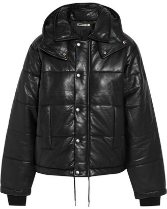 McQ Alexander McQueen - Hooded Quilted Leather Jacket - Black $1,630 thestylecure.com