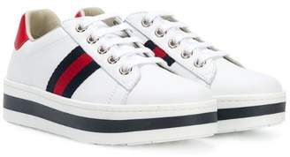 Gucci Kids Web low-top sneakers