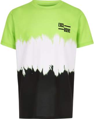 River Island Mens Boys Green faded T-shirt